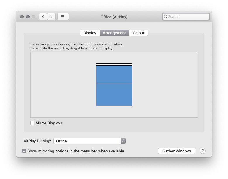 Muestra Mac Apple TV
