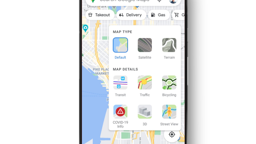 Ver información de Covid en Google Maps