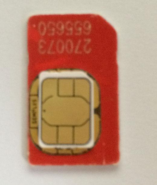 Cómo cortar una tarjeta SIM y hacer una nano-SIM para iPhone y iPad: mide la tarjeta SIM