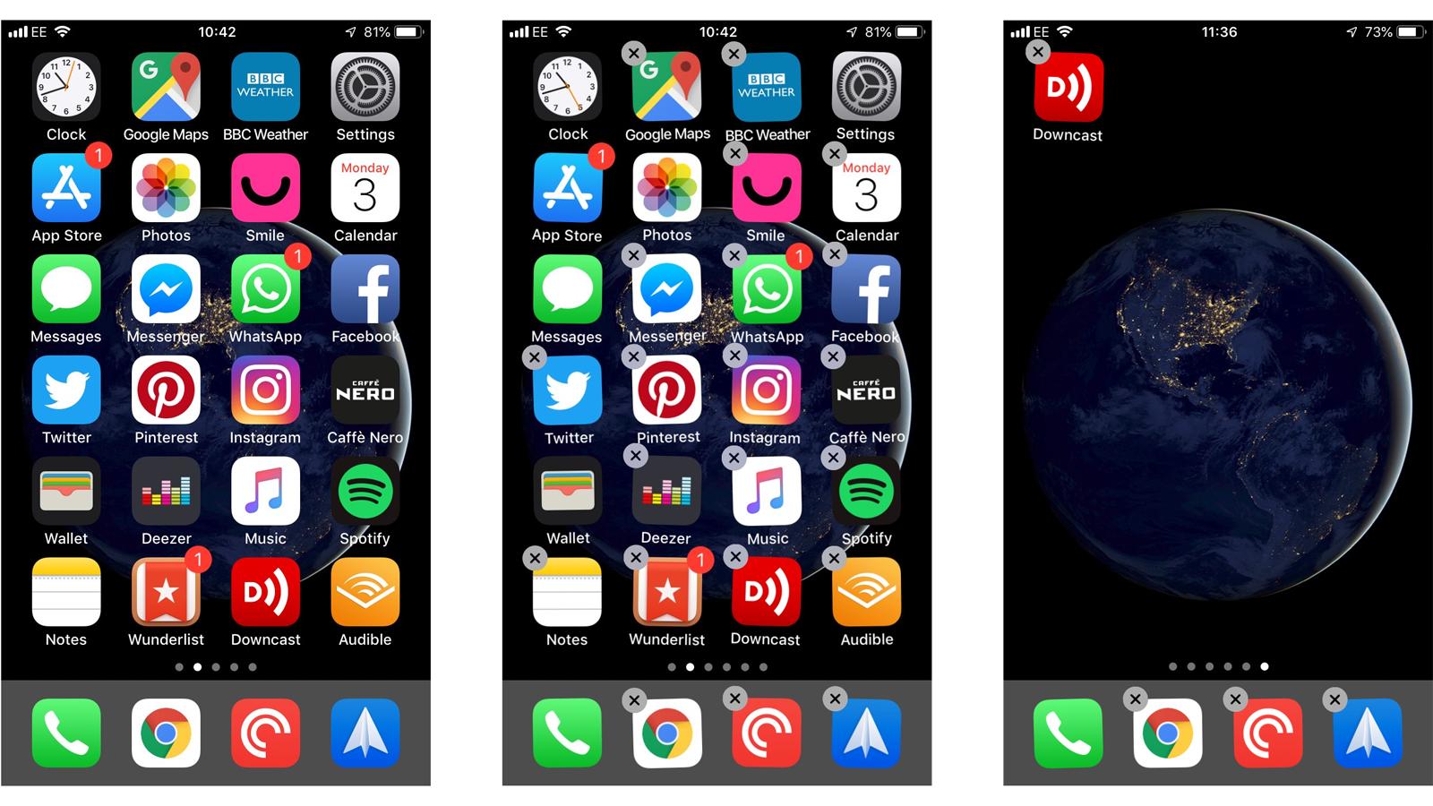Cómo usar los gestos del iPhone: mover íconos de aplicaciones