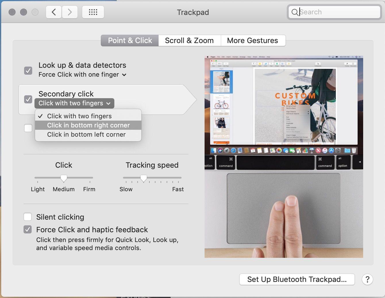 Haga clic derecho en Mac