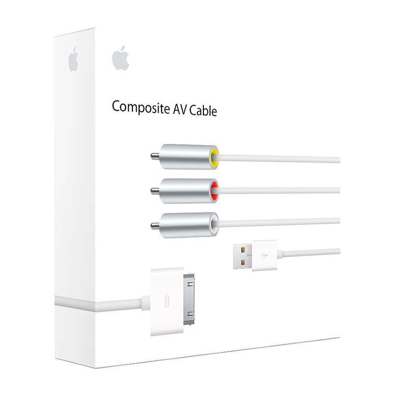 Cómo conectar iPhone o iPad a la TV: cable AV compuesto