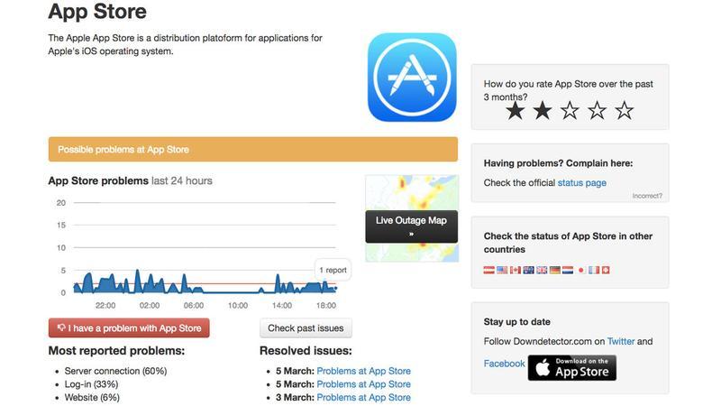 ¿Está caída la tienda de aplicaciones?