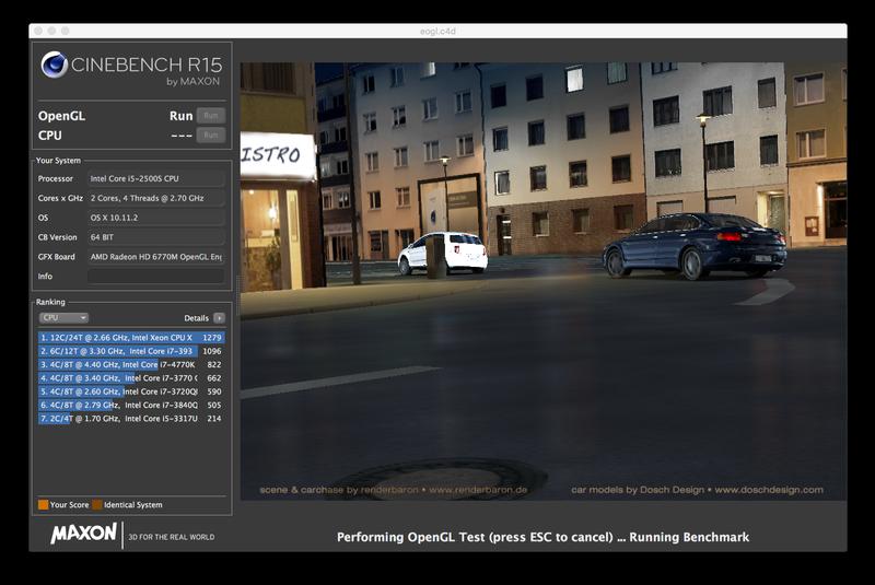 Cómo probar la velocidad de una Mac: Cinebench