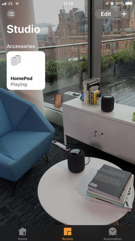Cómo configurar dos HomePods como un par estéreo: aplicación de inicio