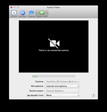 Error de cámara en OS X