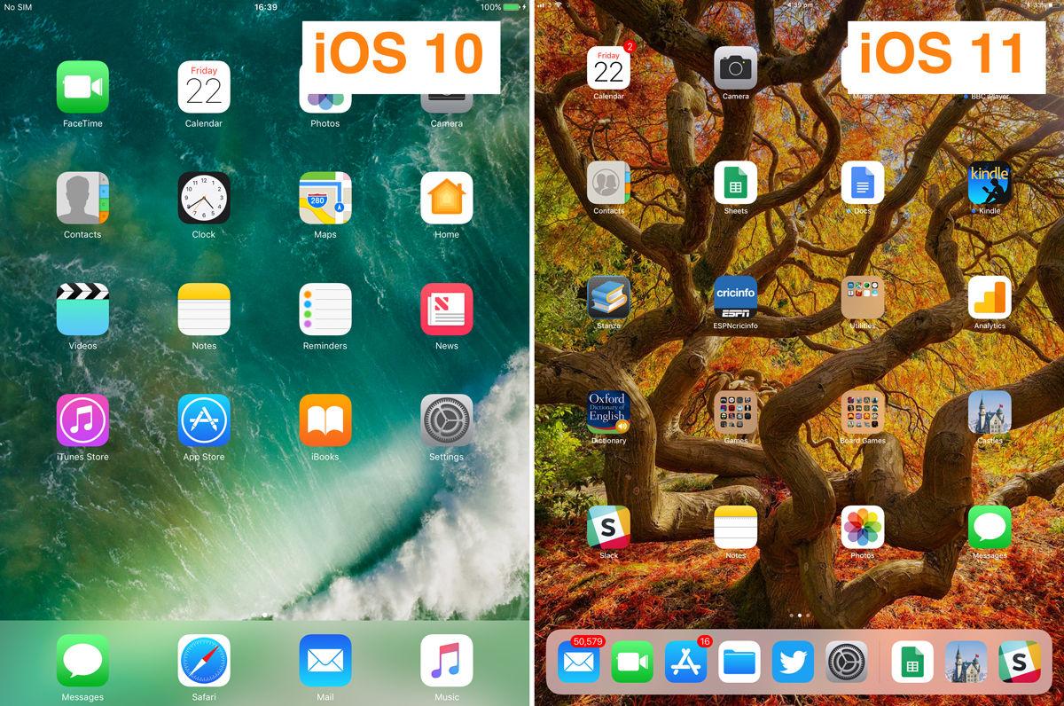 Cómo usar la base para iPad en iOS 11: diferencias con iOS 10