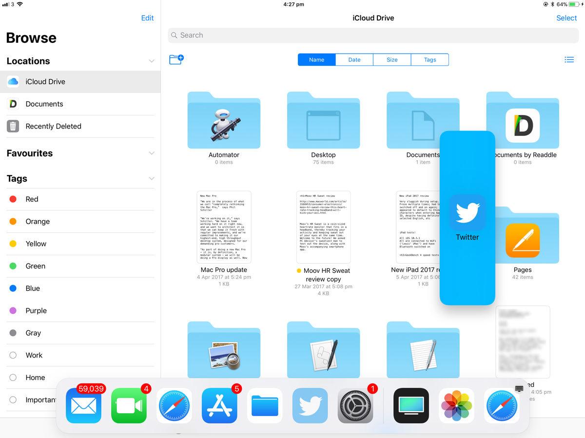 Cómo usar la base para iPad en iOS 11: abra una nueva aplicación