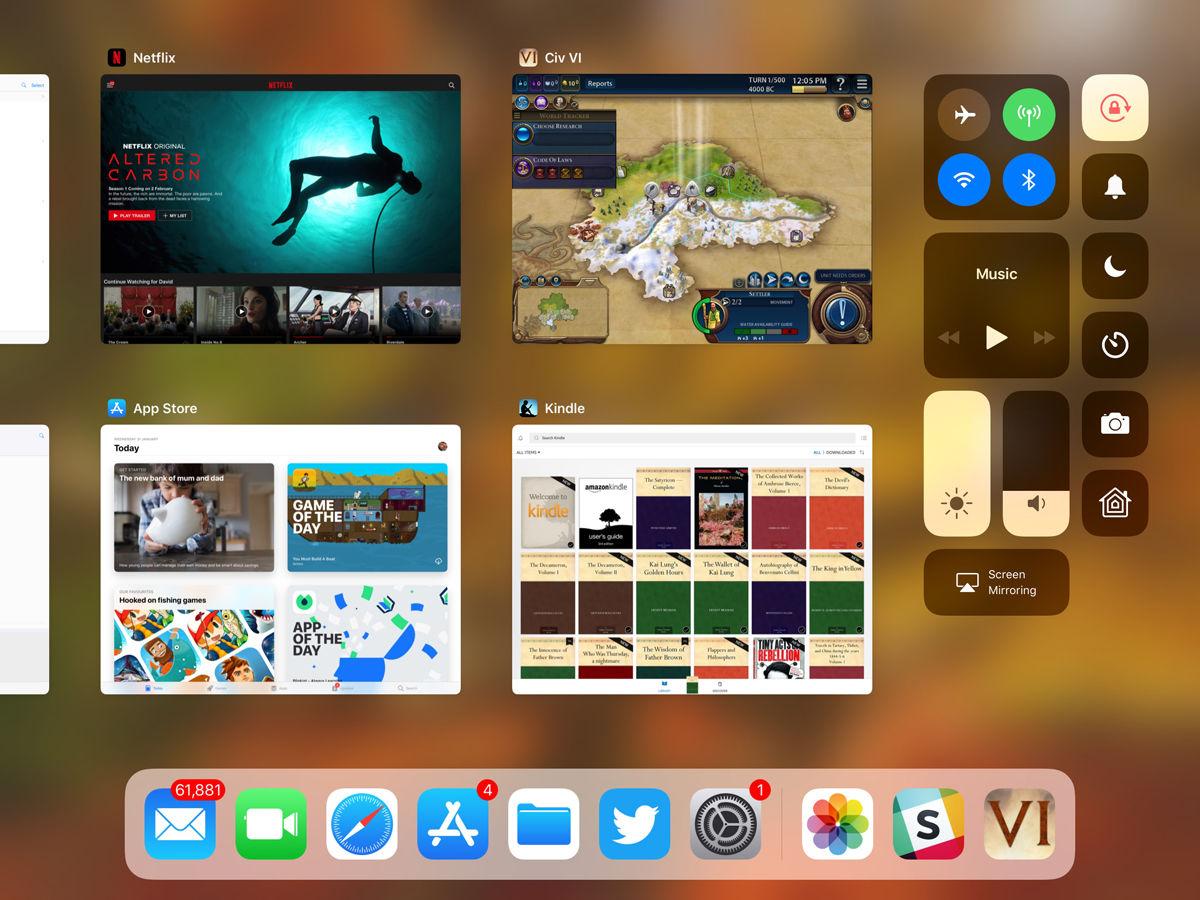 Cómo usar la base para iPad en iOS 11: Centro de control