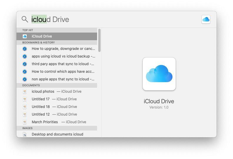 Encuentra iCloud Drive Mac