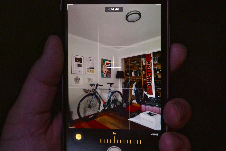 Modo nocturno de cámara iOS 14