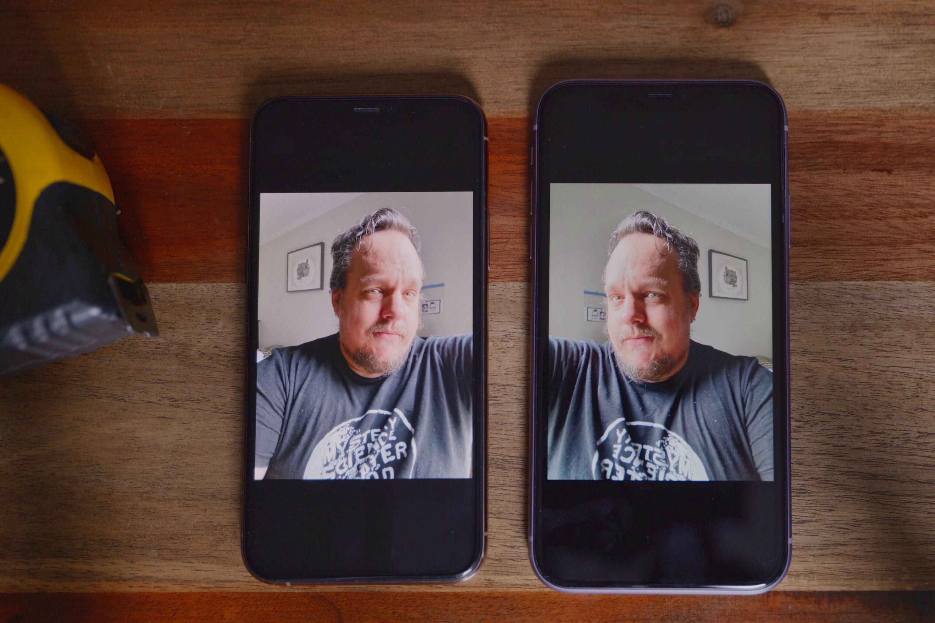 Selfies de espejo de cámara iOS 14