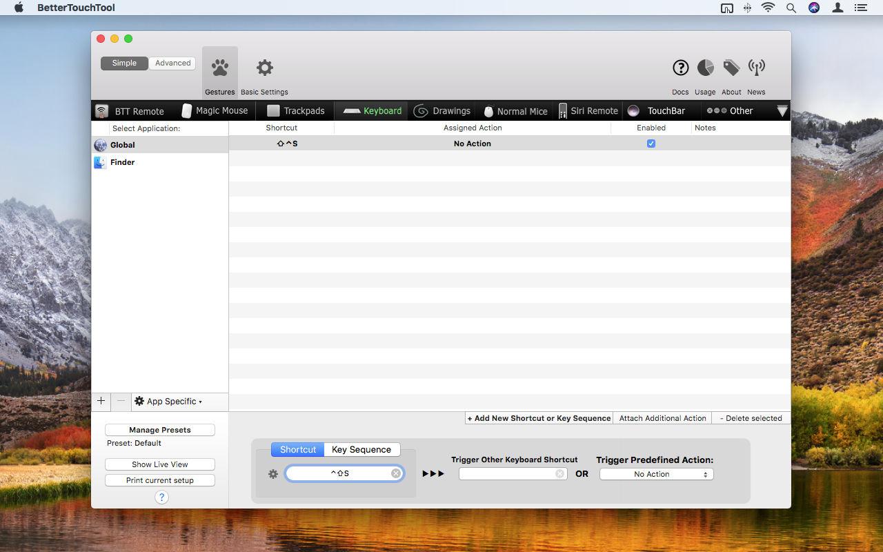 Cómo abrir cualquier aplicación o carpeta de Mac con accesos directos personalizados: BetterTouchTool