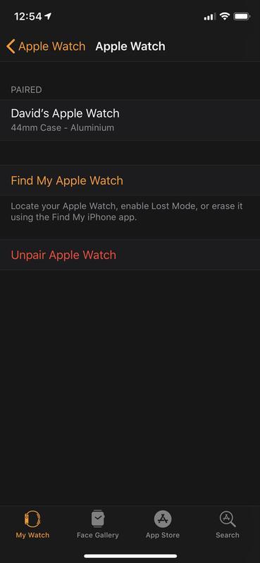 Cómo arreglar una pantalla de Apple Watch que no responde al tacto: Desemparejar