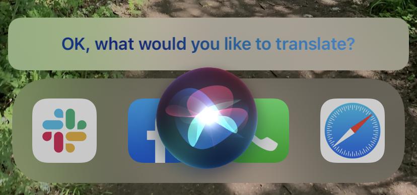 Pídele a Siri que traduzca