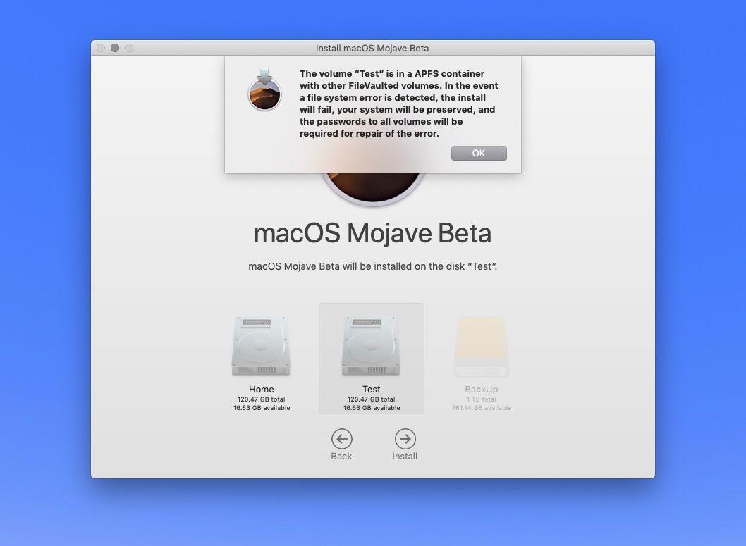 Instalar partición macOS