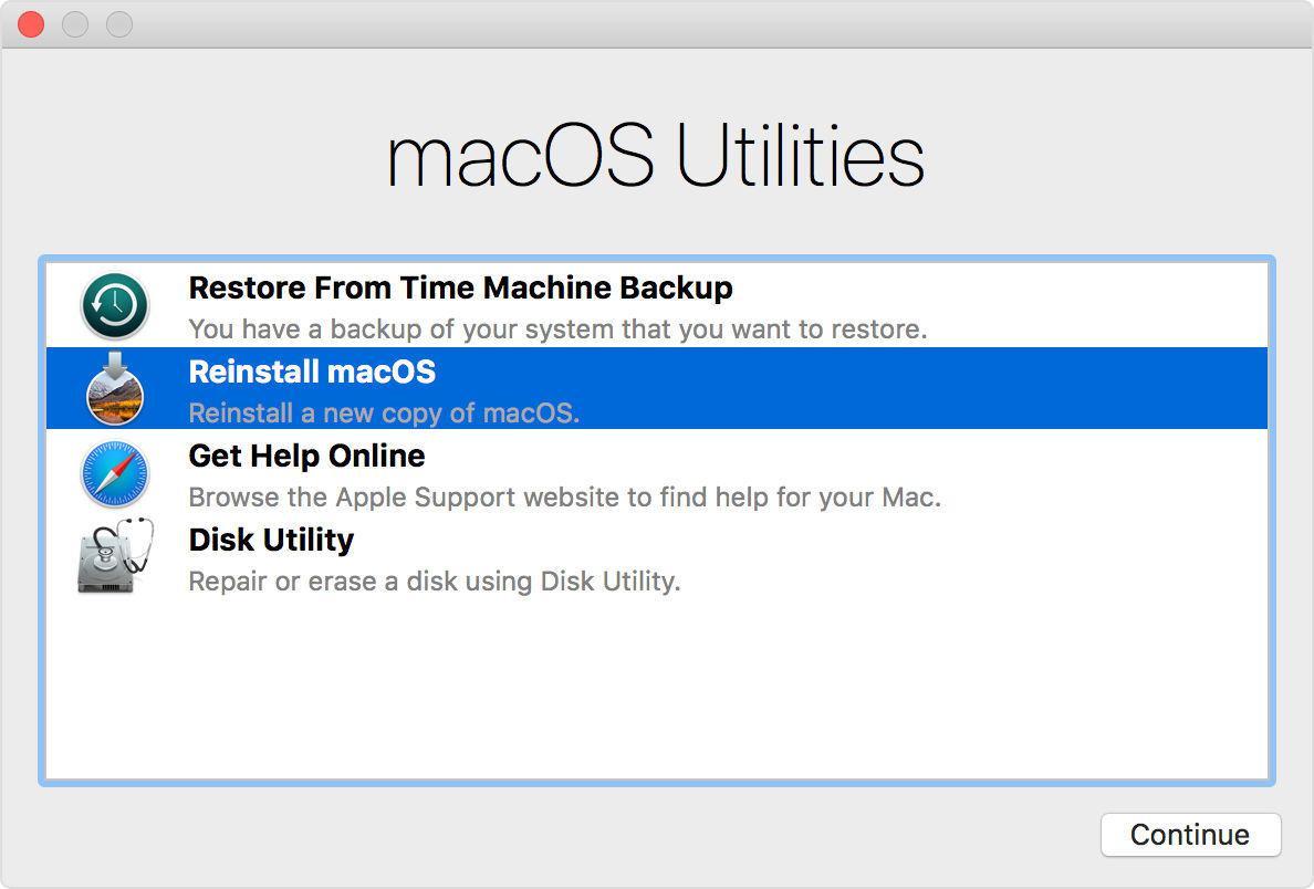 Modo de recuperación Mac