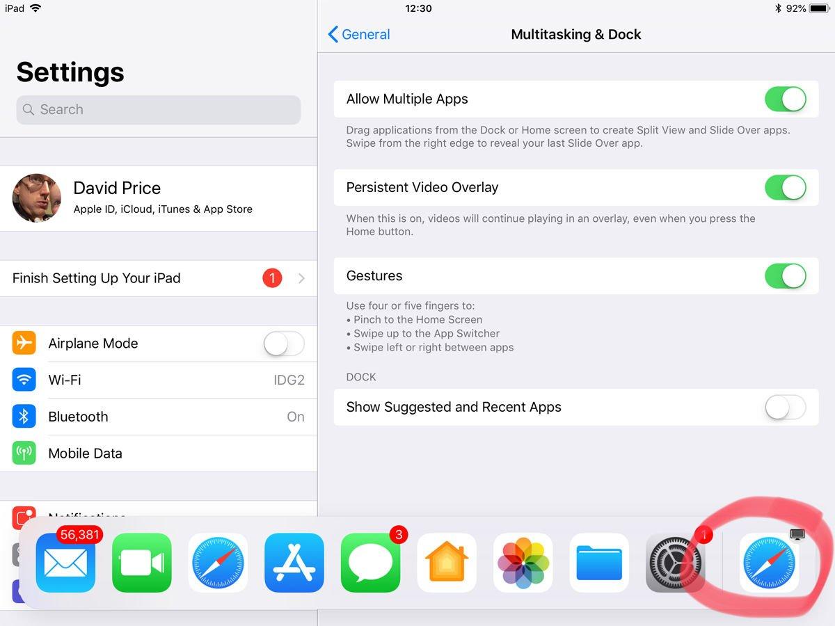 Cómo evitar que iOS agregue aplicaciones sugeridas a la base del iPad: Handoff