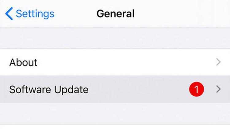 Cómo arreglar iTunes no se puede conectar a este iPhone: Actualizar iOS