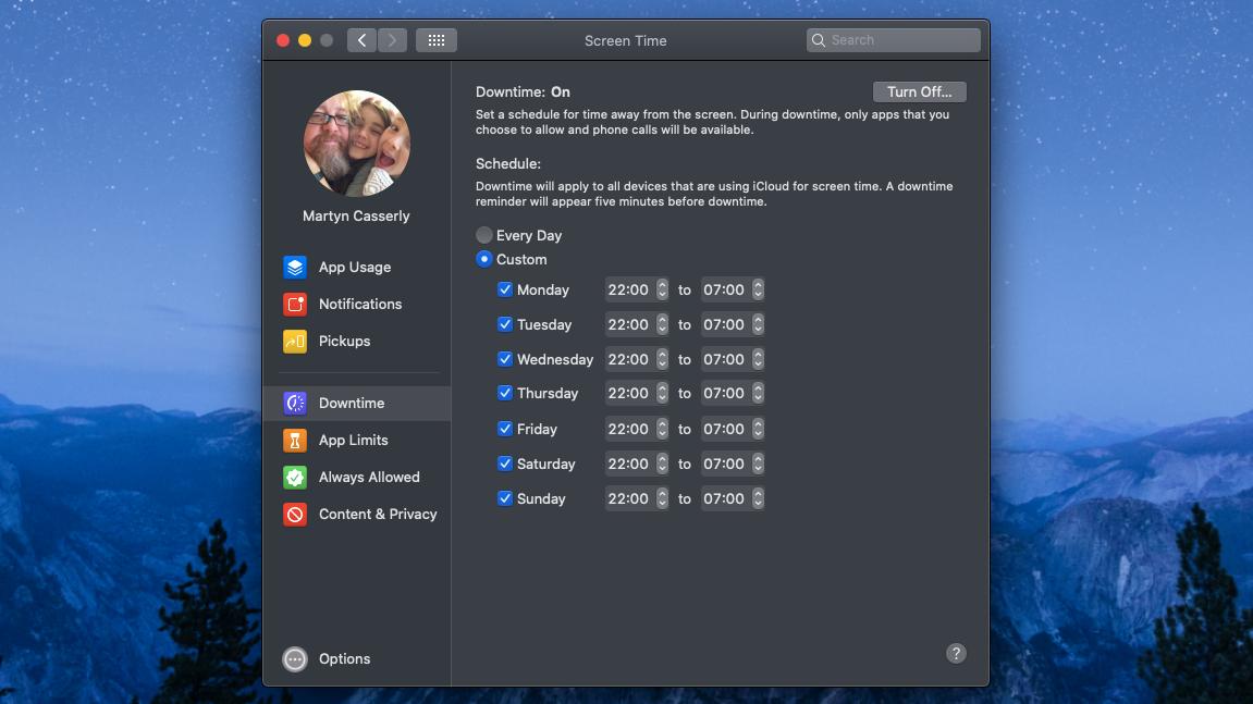 Cómo configurar los controles parentales en Mac y MacBook: Tiempo de pantalla