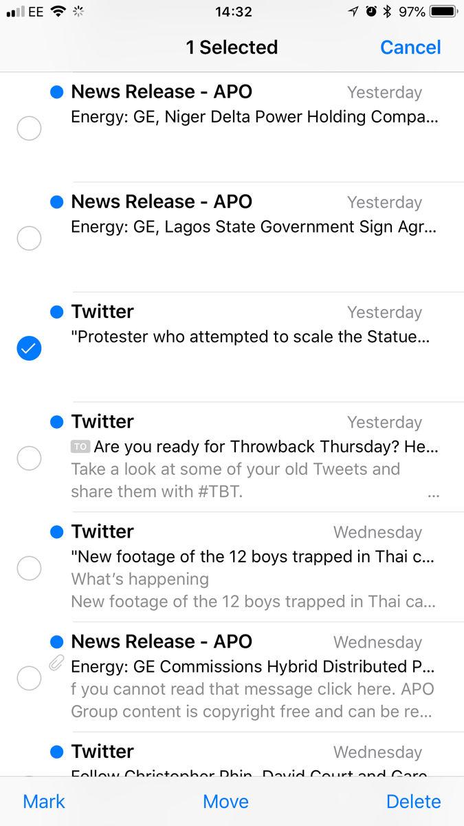 Cómo recuperar archivos y fotos borrados en iPhone: correos electrónicos