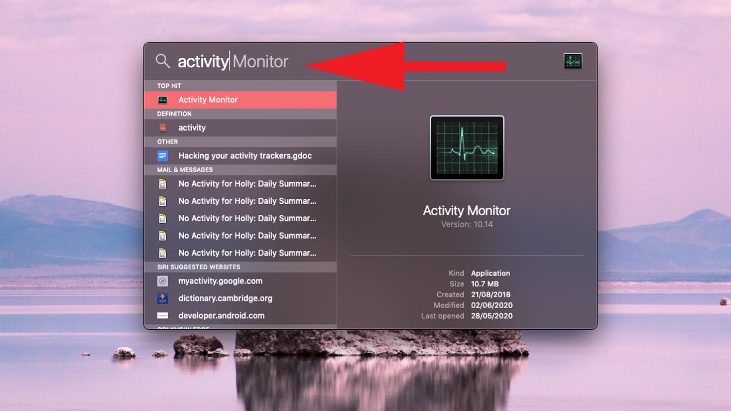 Cuánta RAM hay en mi Mac: Monitor de actividad