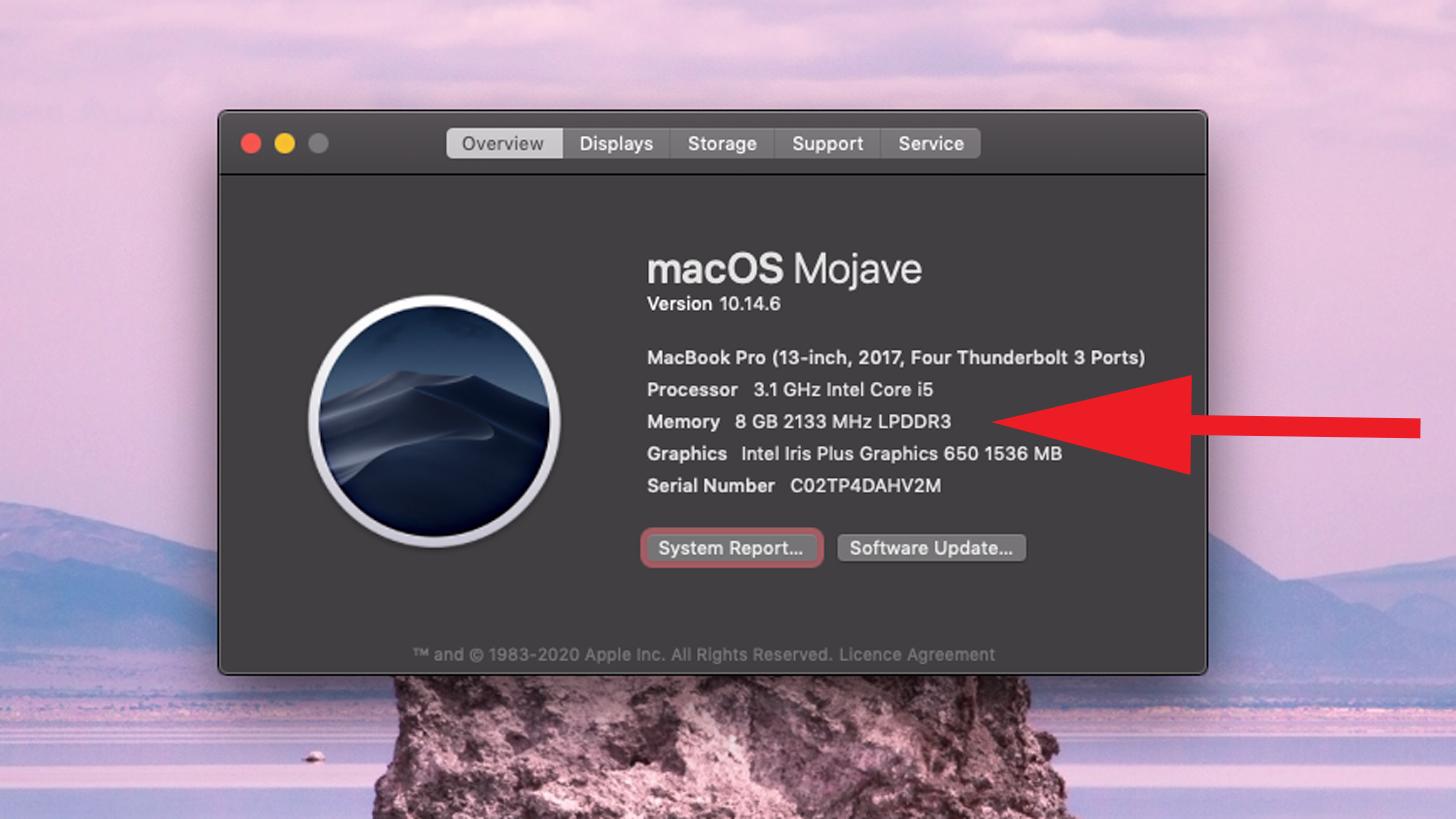 Cuánta RAM hay en mi Mac: Información del sistema