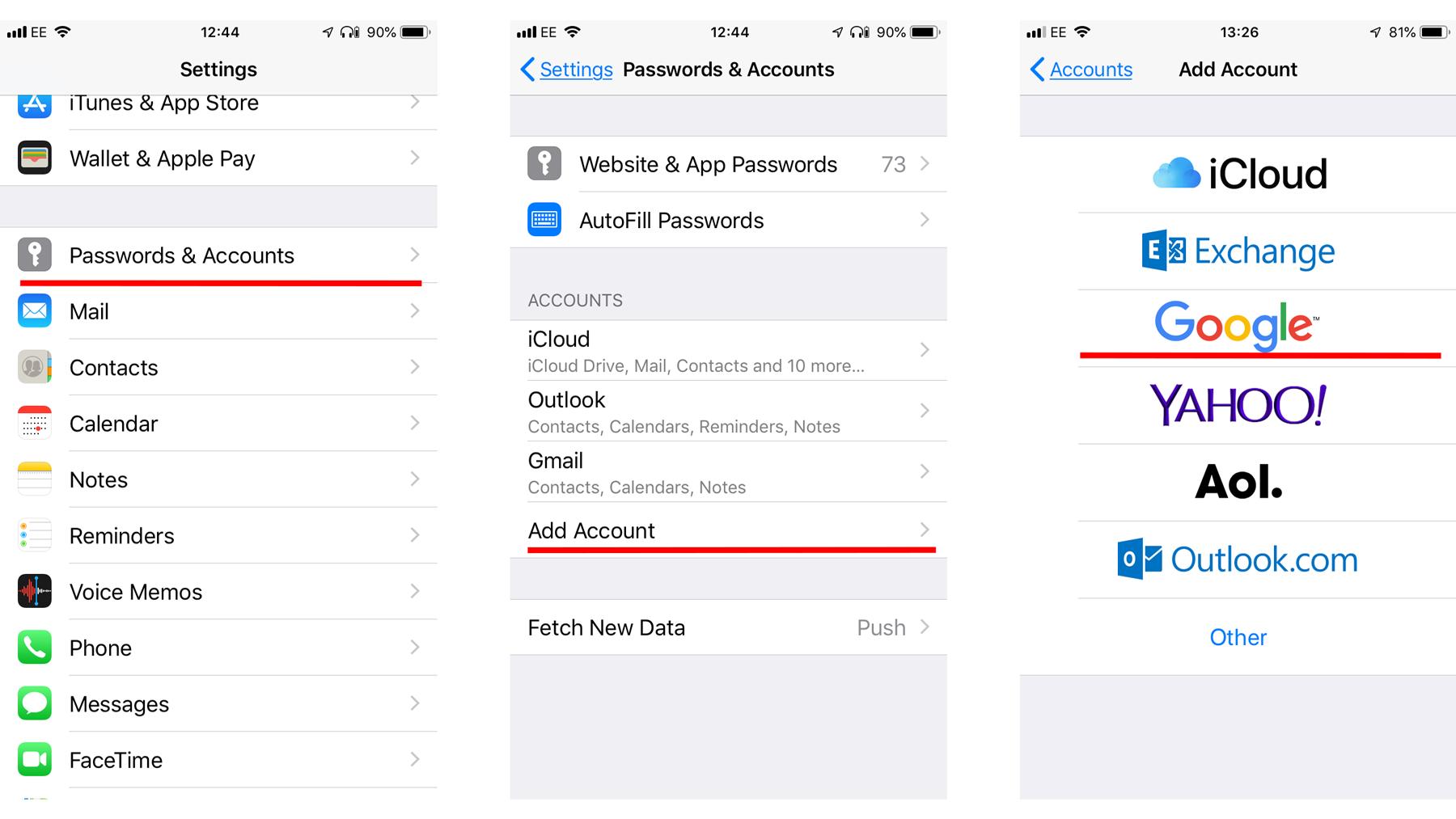 Cómo sincronizar el calendario de Google con iPhone: Configuración