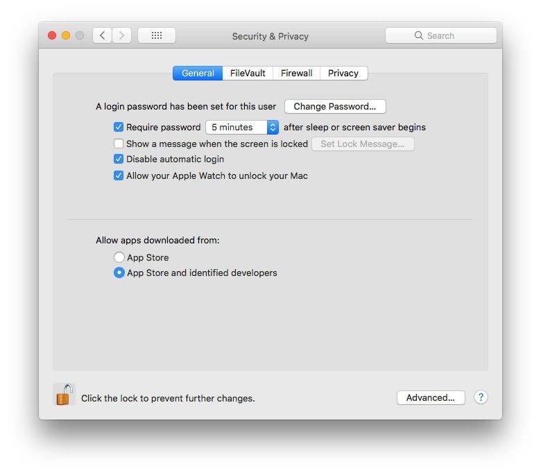 Cómo permitir aplicaciones de Mac desde cualquier lugar