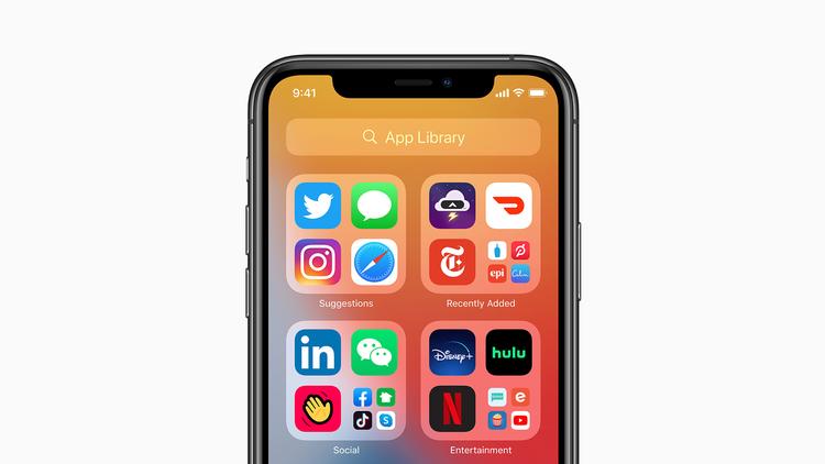 Cómo usar la biblioteca de aplicaciones en iOS 14: carpetas