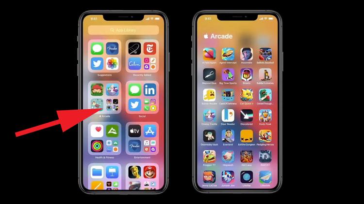 Cómo usar la biblioteca de aplicaciones en iOS 14: abrir carpetas