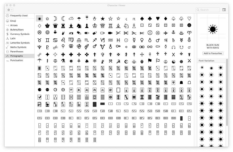 Pictogramas en Mac