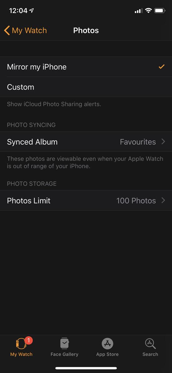 Cómo configurar Apple Watch: Fotos