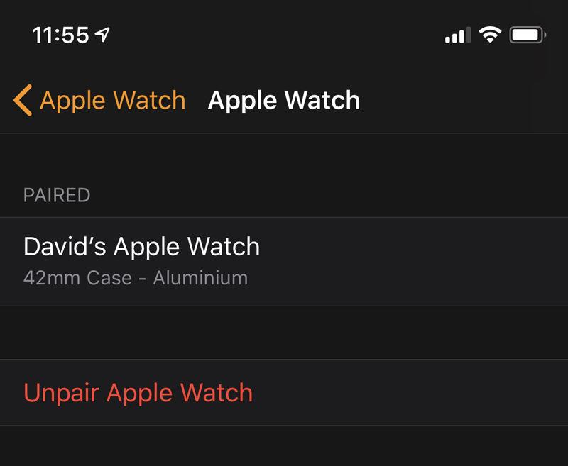 Cómo configurar un nuevo Apple Watch: desvincular