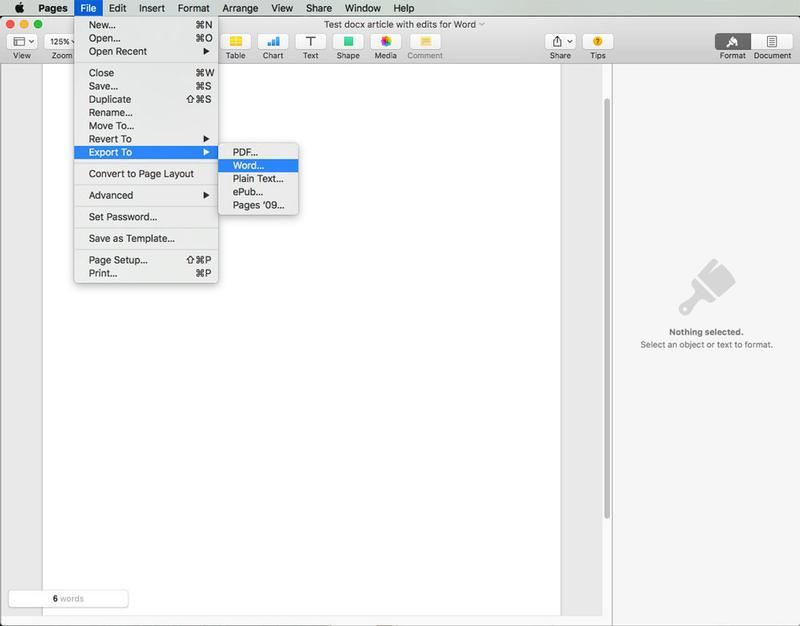 Cómo editar archivos docx en Mac: páginas