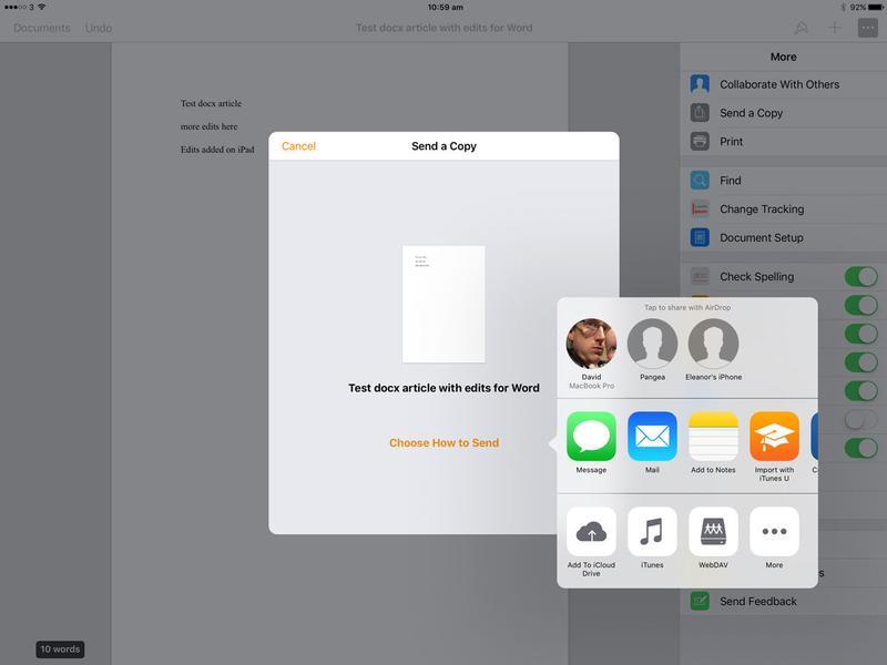 Cómo editar un archivo .docx en iPad