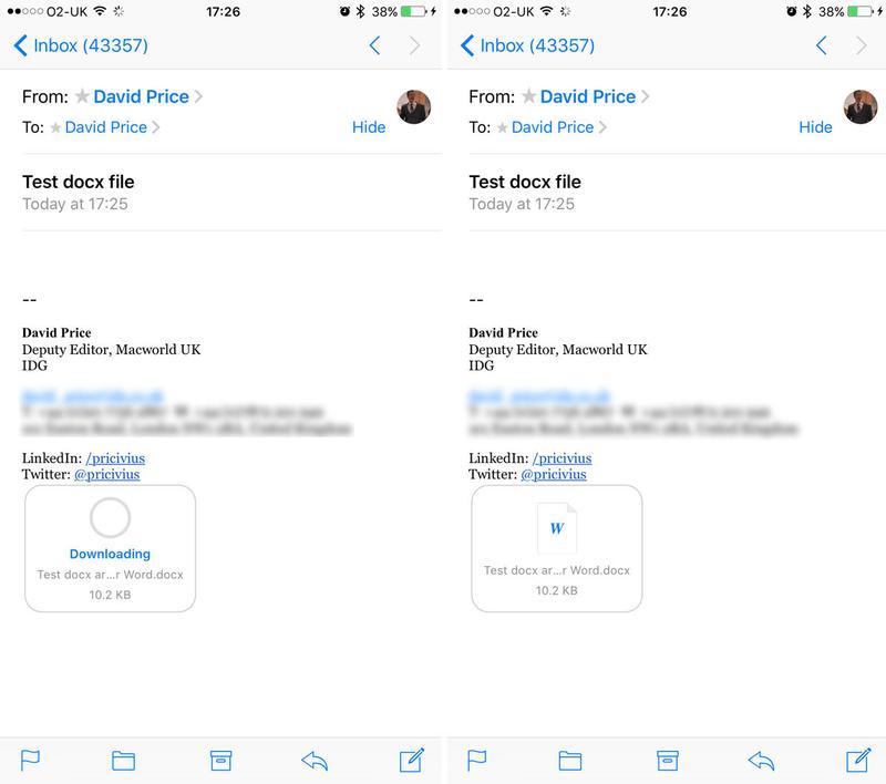 Cómo abrir un archivo .docx en iPhone