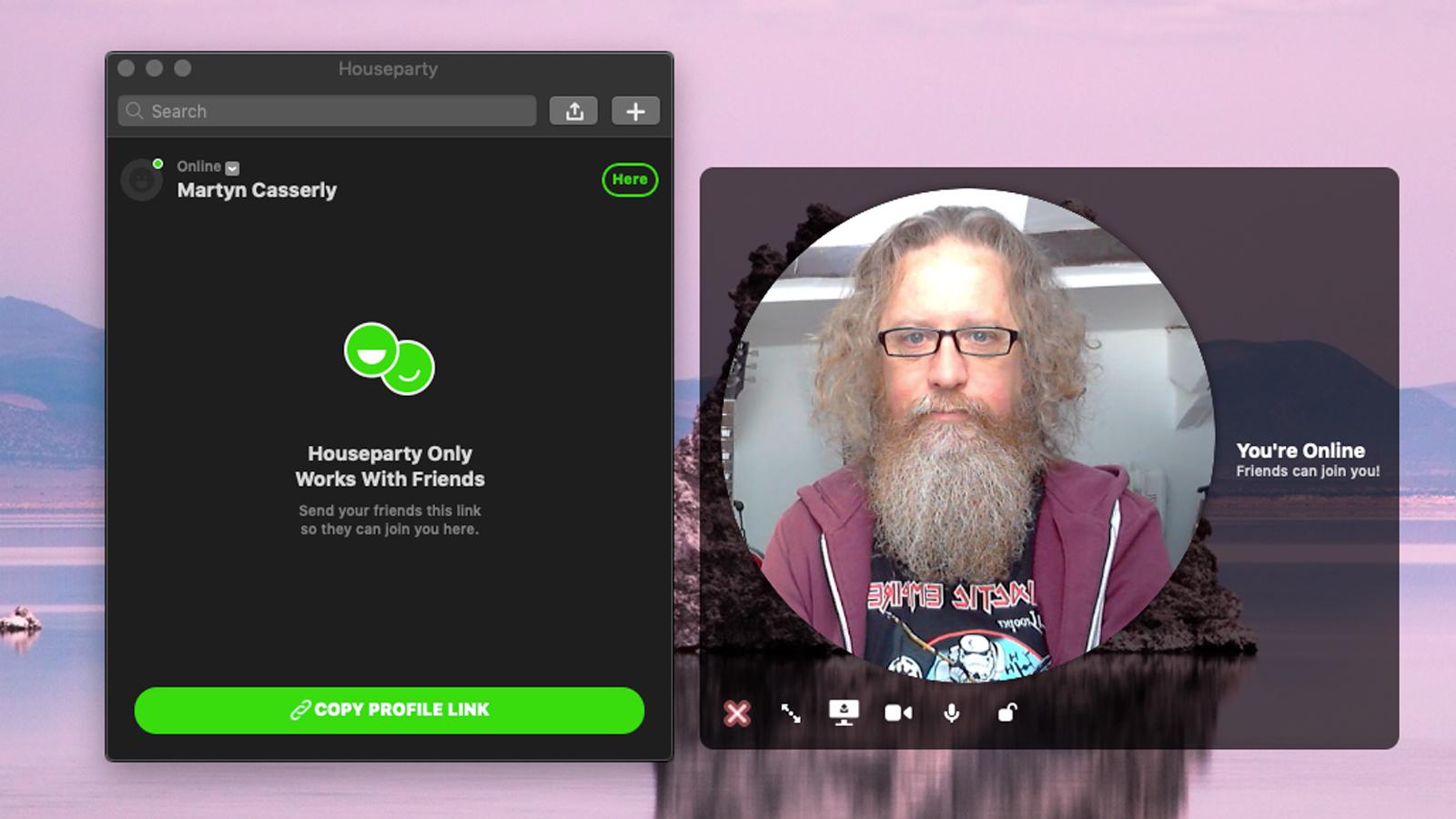 Cómo configurar y usar Houseparty en Mac: Iniciar sesión