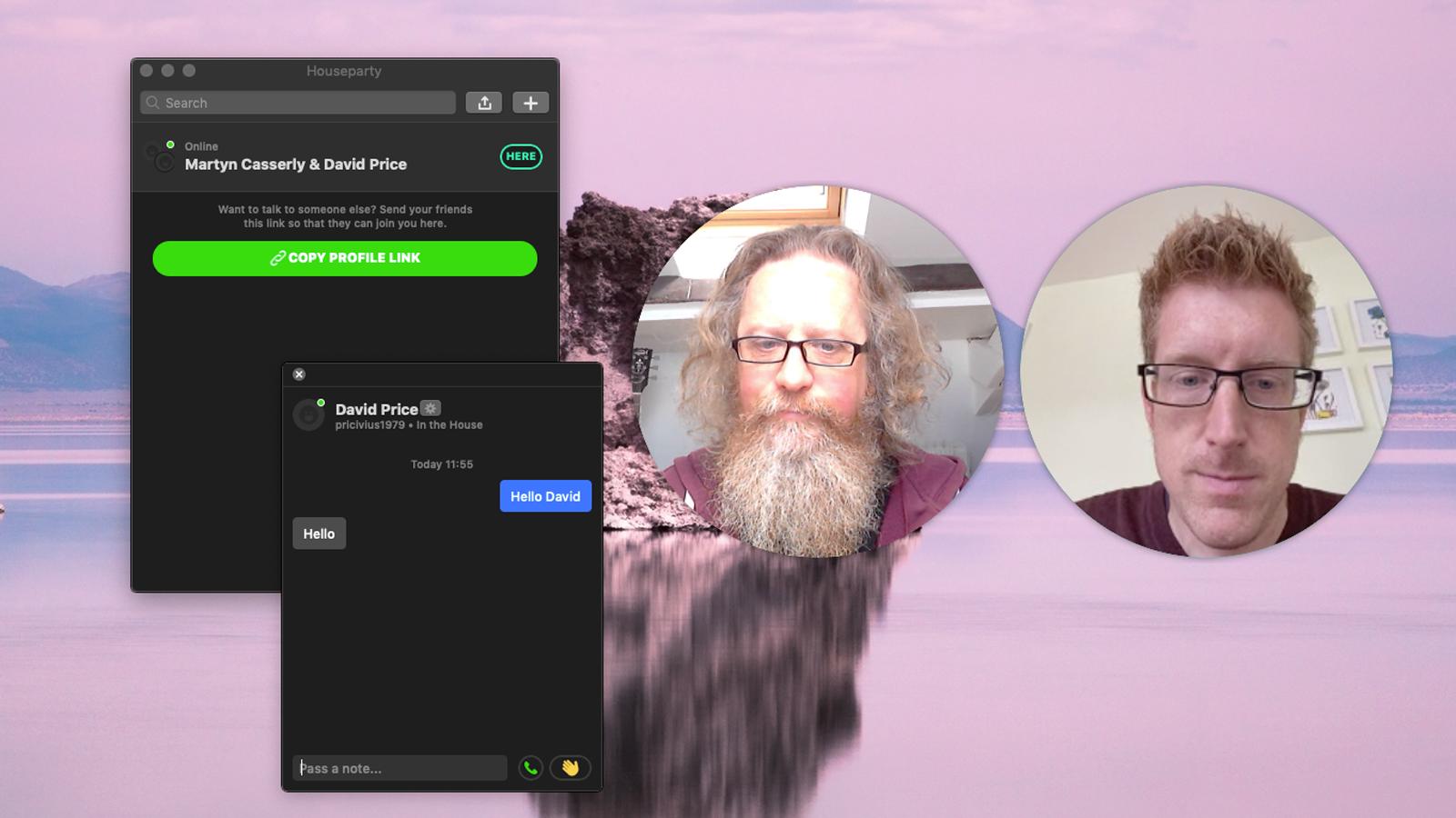 Cómo configurar y usar Houseparty en Mac: Chat de texto