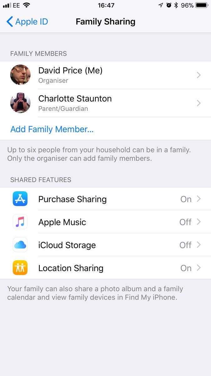 Cómo compartir el almacenamiento de iCloud con su familia: Compartir en familia