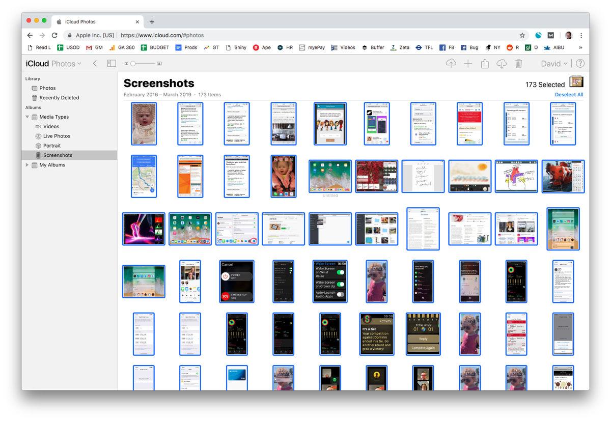 Cómo seleccionar todas las fotos en iCloud