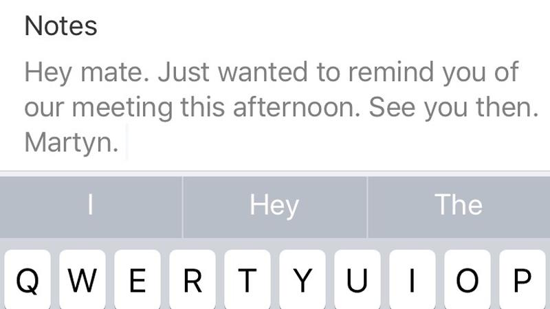 Cómo programar mensajes de texto en iPhone: recordatorio de reunión