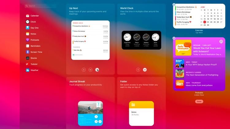 Cómo usar widgets y centro de notificaciones en Mac: Galería de widgets