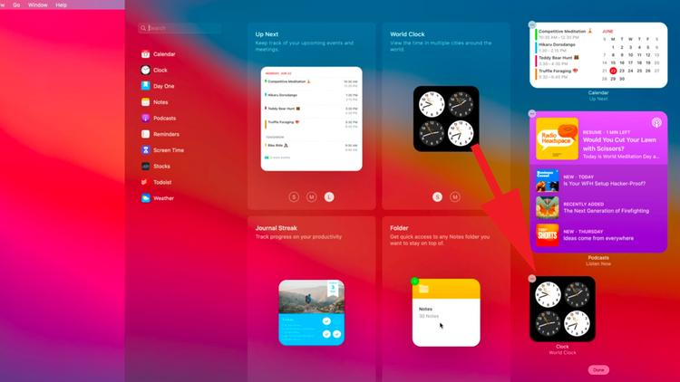 Cómo usar widgets y el centro de notificaciones en Mac: agregar widgets