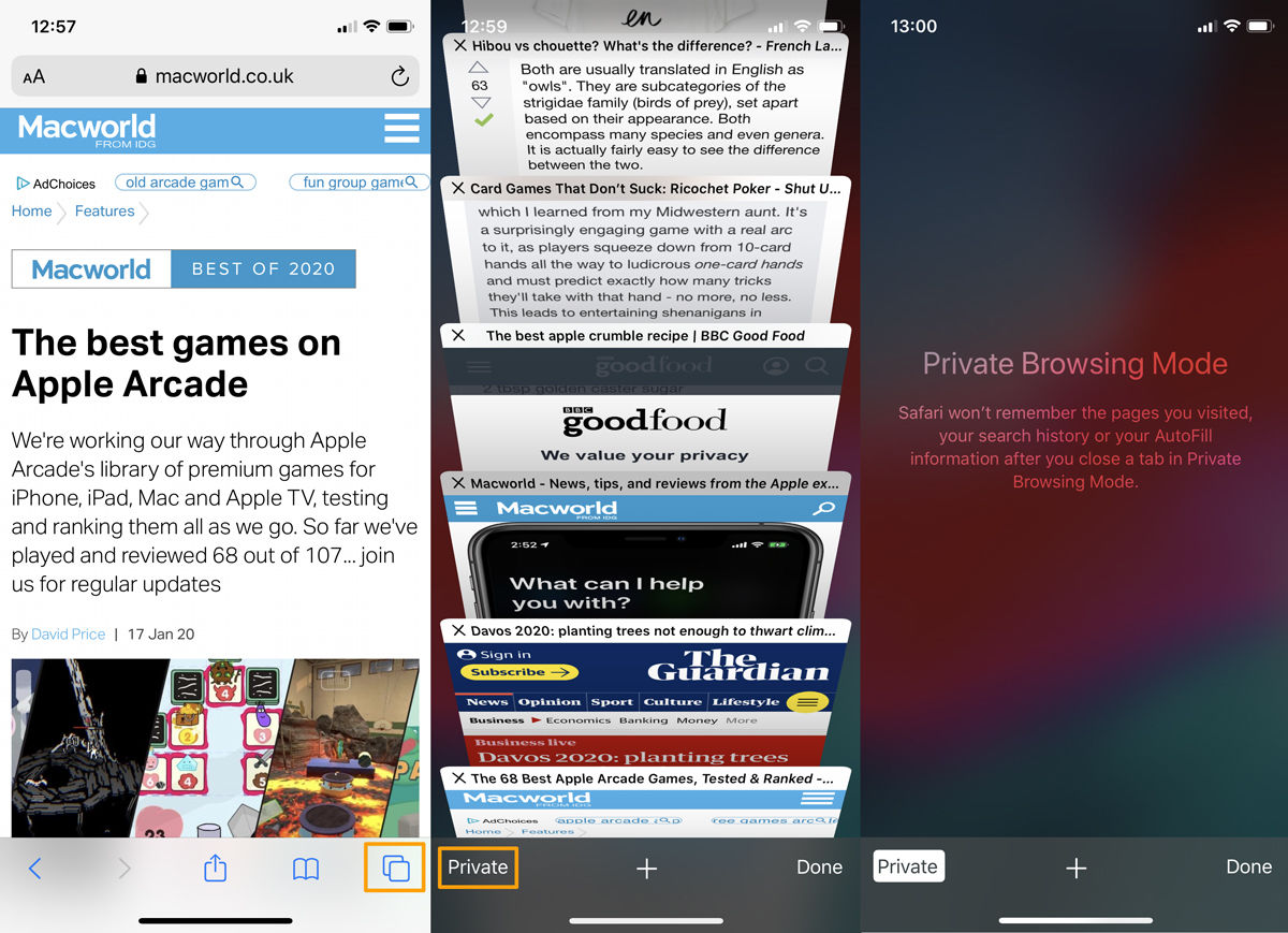 Cómo activar la navegación privada en iPhone y iPad