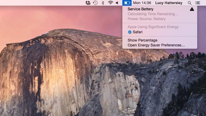 Mac no se carga: verifique el servicio de la batería