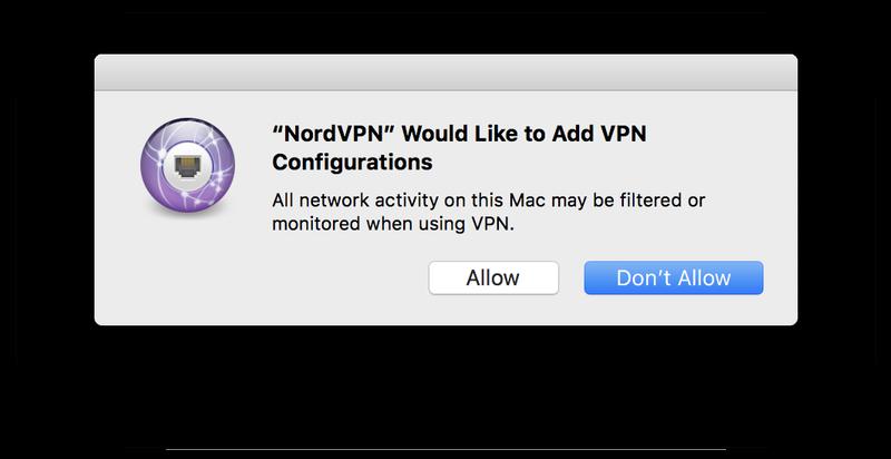 Permita que la VPN agregue configuraciones