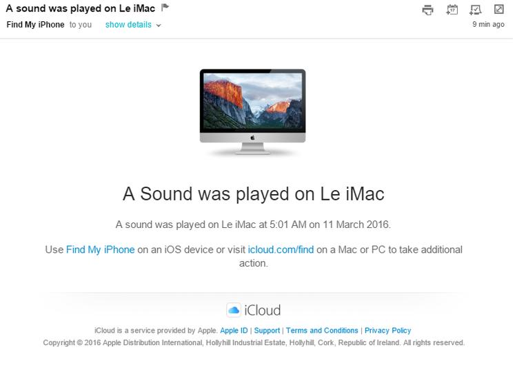 Cómo rastrear un MacBook robado - Correo electrónico