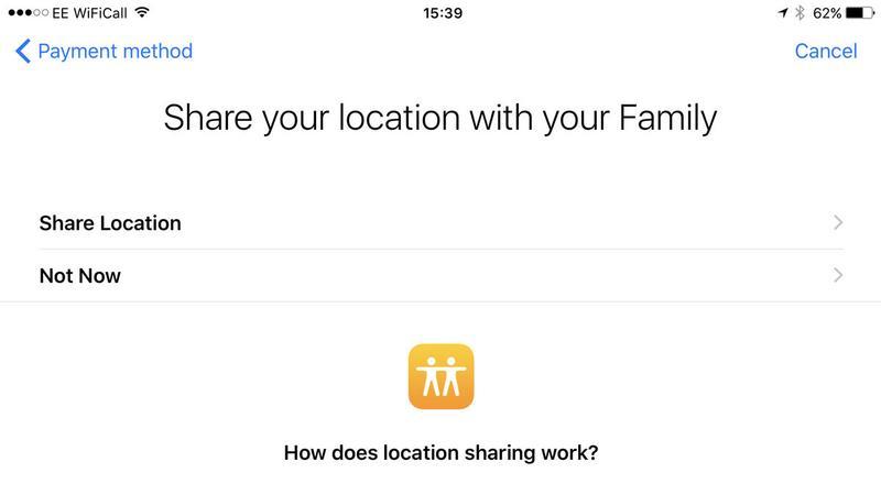 Cómo configurar Compartir en familia en iPhone: Compartir ubicación
