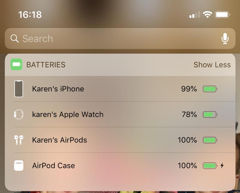 Cómo arreglar AirPods que se desconectan del iPhone: widget de batería